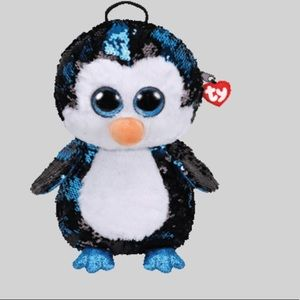 NWT Waddles Penguin Two Way Sequin Backpack